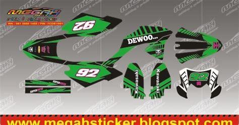 Decal Klx 150 006 megahsticker new klx bf new dtracker 150