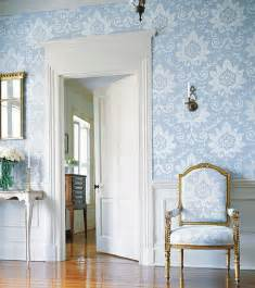 design interior country bright blue white door