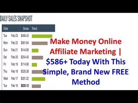 Make Money Online Today Free - make money online affiliate marketing 586 today with this simple brand new free