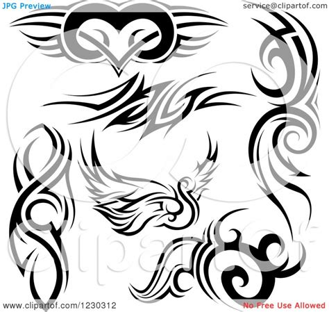black and white tribal tattoos black and white tribal tattoos various tribal