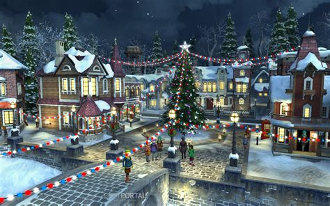 christmas village background wallpapersafari