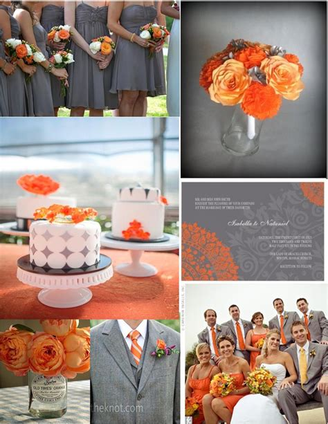 pink cupcake weddings inspiration orange and grey