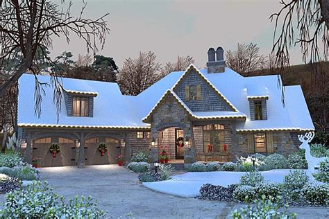 French Country Cottage House Plans by Cottage Craftsman French Country House Plan 75134
