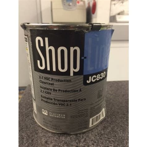 ppg shopline voc production clearcoat jc830 04 auto paints pro