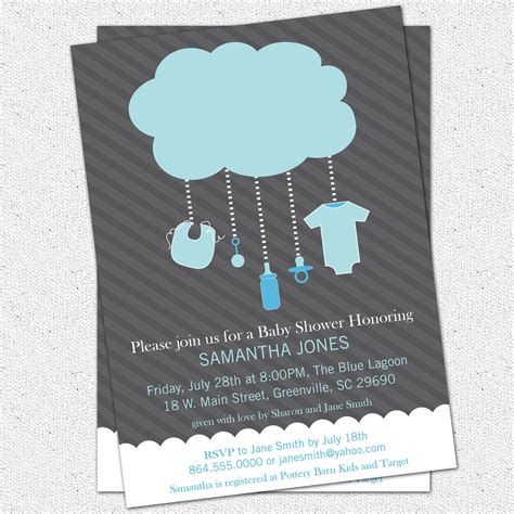 handmade baby boy shower invitation ideas photo popular items for image