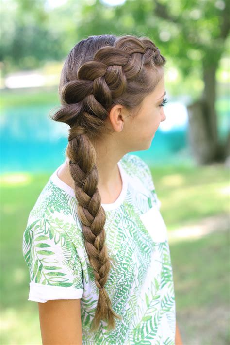 Girly Hairstyles by Side Braid Combo Hairstyles