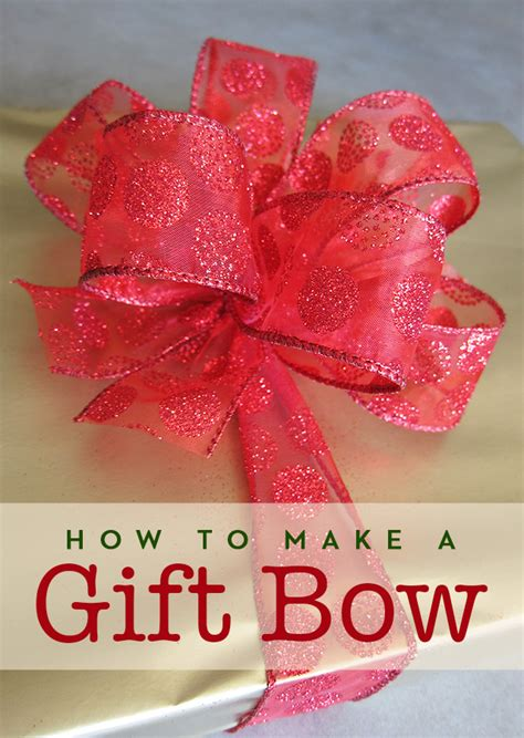 how to make a gift bow adventures of a sick chick