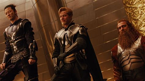thor movie fandral the warriors three look to be back for thor ragnarok