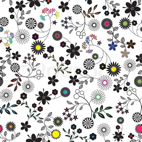Supplier Baju Floral Blus Hq 1 flower abstract seamless vector background
