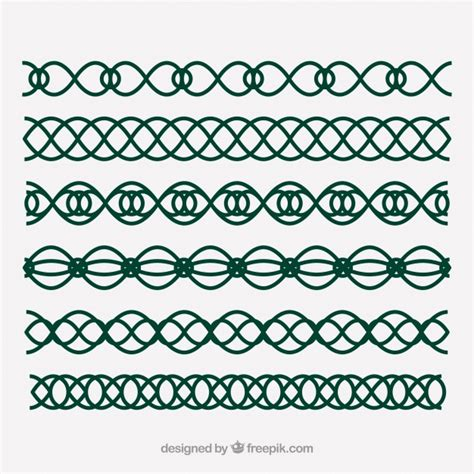viking pattern vector celtic elven decorations vector free download
