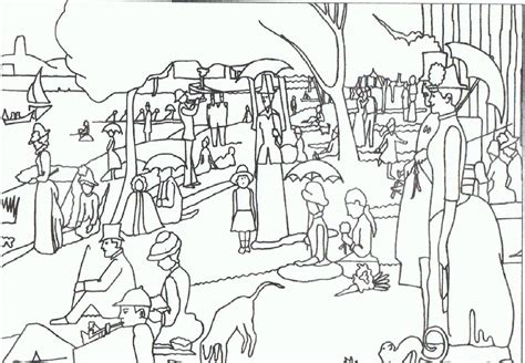 free seurat coloring pages