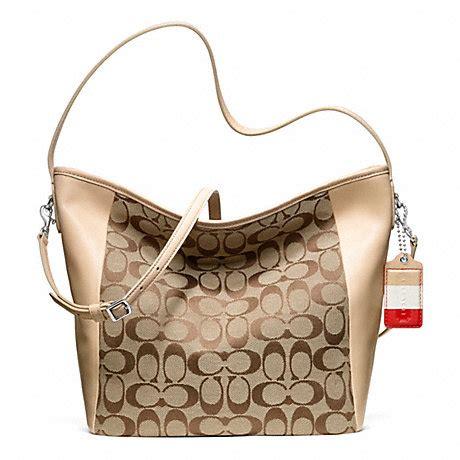 Coach Legacy Signature Cotton Shoulder Bag by Coach F23702 Weekend Signature C Shoulder Bag Coach