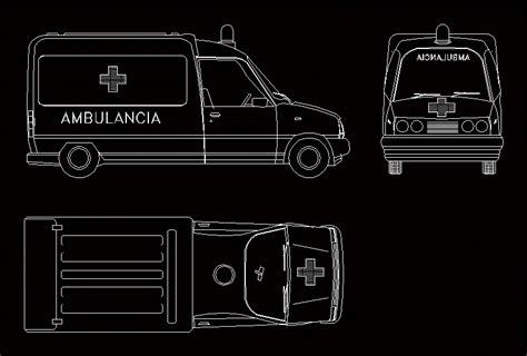 ambulance  dwg plan  autocad designs cad