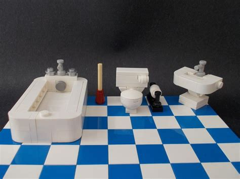lego furniture bathroom set w toilet sink bathtub