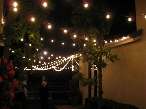 Outdoor String Patio Lighting String Lights Patio Lighting Backyard Outdoor Indoor 7 Watt 100 Clear Bulbs Set Ebay