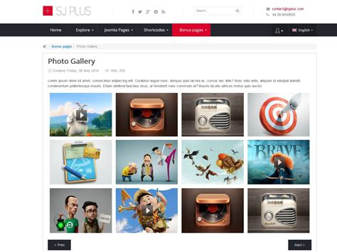 5 Best Free Joomla Templates For Photograhy Gallery In October 2015 Photo Book Website Template