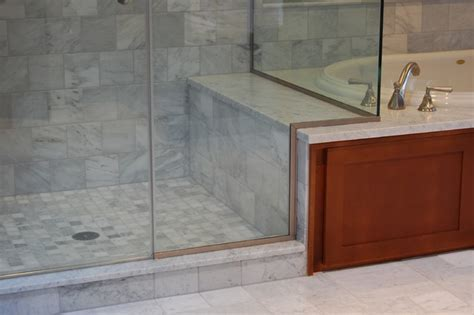 Shower bench detail   Traditional   Bathroom   portland