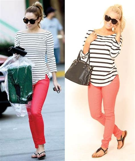 8 Pairs Of Colored Denim For by Pair Striped Shirt With A Pop Of Color For A Casual