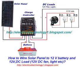how to wire solar panel to 12v battery and 12v dc load