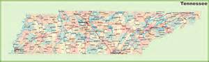 Tennessee Map With Cities And Towns by Road Map Of Tennessee With Cities