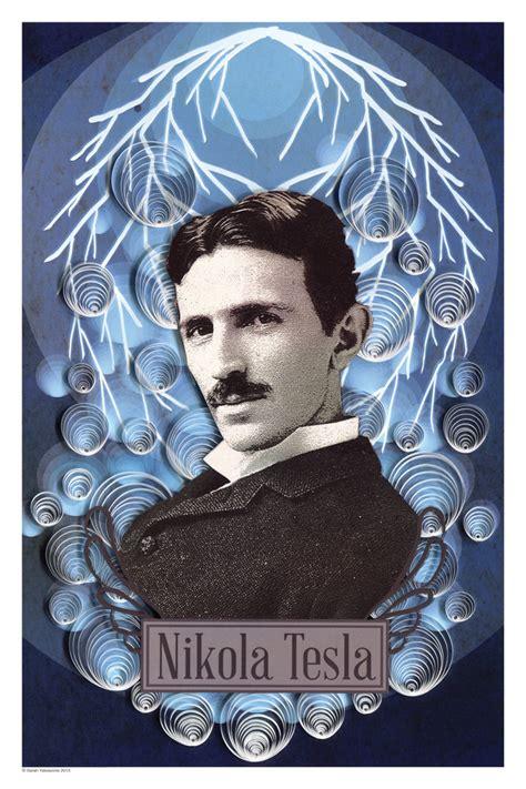 Nikola Tesla Poster Yakawonis Nikola Tesla Paper