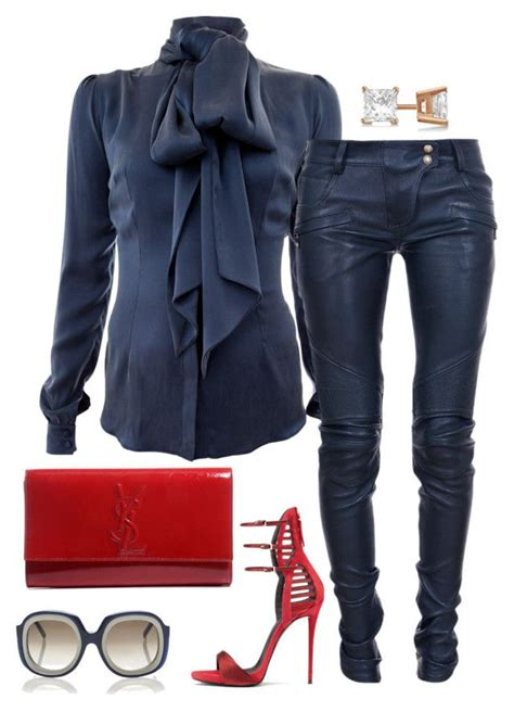 St Yves Three Ban Sandal Navy quot status quot by fashionkill21 liked on polyvore featuring