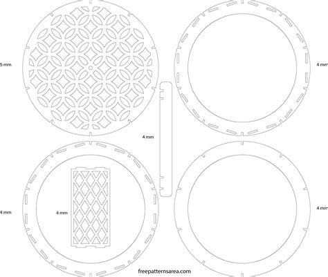 drum pattern templates wood drum chandelier light free laser cutting design