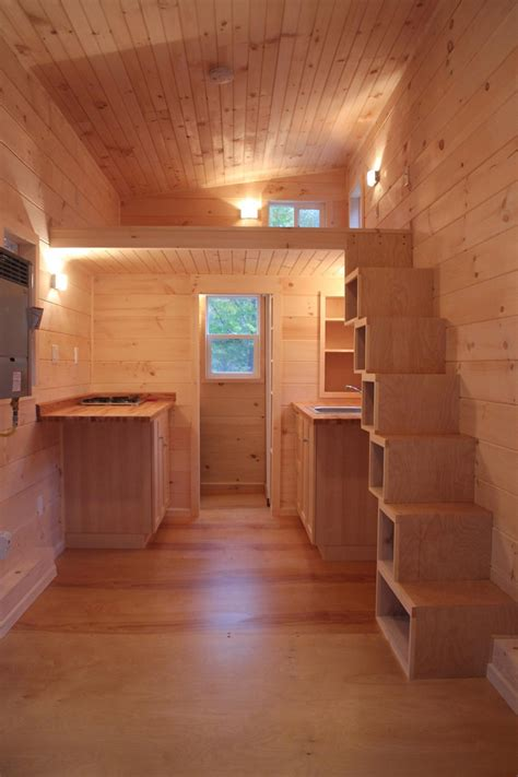 small house kitchen project planning mary sherwood tiny house stairs create 25sf storage with these tiny