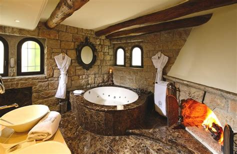 bathrooms in castles 25 bathroom fireplaces that make any bath a wow therapy