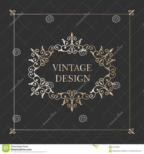 gold vintage design elements vector vintage gold frame antique decorative elements stock