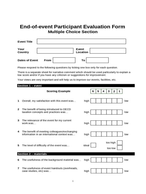 event evaluation form 2 free templates in pdf word