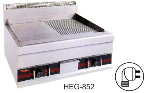 Gas Half Grooved Griddle Mesin Panggang Steak Hgg 752 pemanggang ikan mesin raya