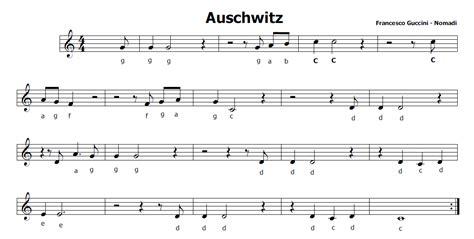 testo auschwitz nomadi musica e spartiti gratis per flauto dolce auschwitz