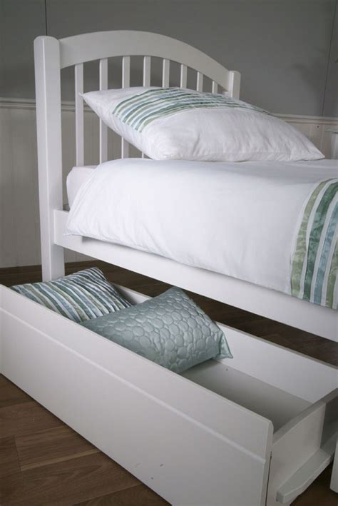 White Bed Frame With Drawers Limelight Despina 3ft Single White Wooden Bed Frame With Bed Drawers By Limelight Beds