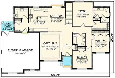 side load garage house plans 3 bed brick ranch with side load garage 89911ah