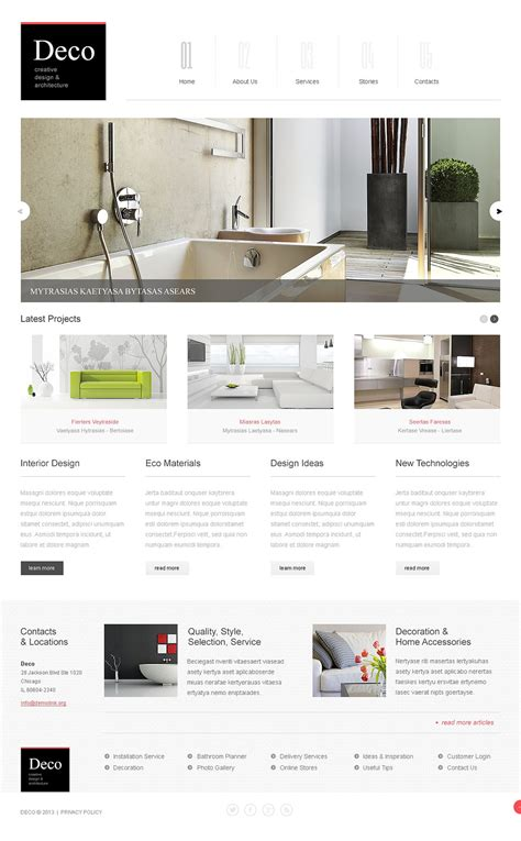 white space interior design joomla template 44182