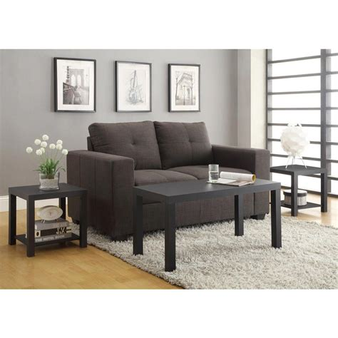 altra furniture coffee table altra furniture coffee table and end table set in black 3