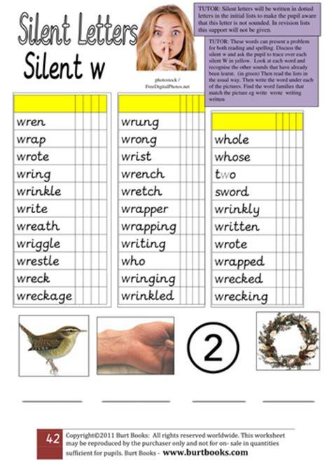 silent w words worksheets silent w handout 1 by coreenburt teaching resources tes