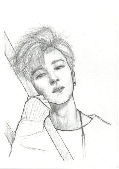 V Drawing Jimin by Bts Jimin Drawing K Pop Amino