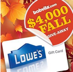 Bob Vila Sweepstakes - bob vila 4 000 fall giveaway sweepstakes win a 1 000 lowe s gift card
