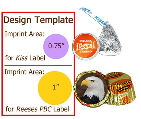 Hershey Kisses Peanutbutter Cups Global Sweet Treats Peanut Butter Label Template