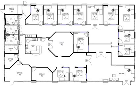medical office floor plan sles floor plans commercial buildings home interior design