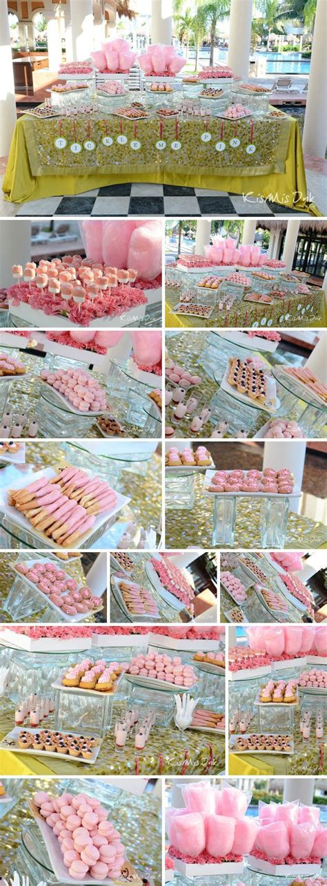 When Are Baby Showers Held by A Tickled Pink Themed Favor Table At An Event Held
