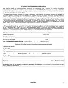 background check authorization form template background check disclosure and authorization form free