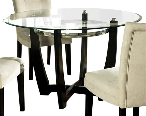 48 inch glass top dining table steve silver matinee glass top 48 inch dining table