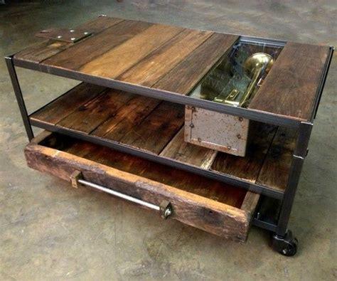 Rustic Wood And Metal Coffee Table Rustic Wood And Metal Coffee Table
