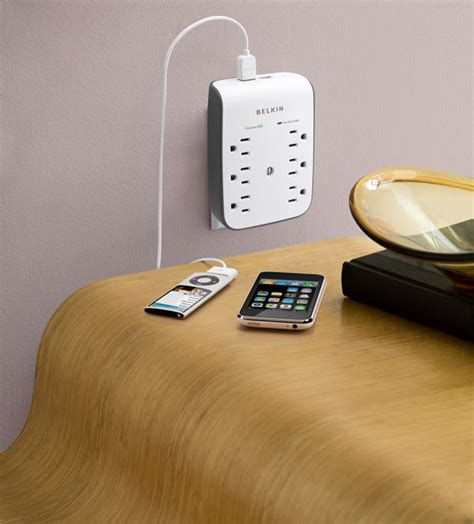 surge protector with usb charging ports belkin 6 outlet wall mount surge protector with dual usb