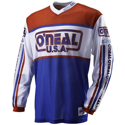 retro motocross jersey oneal 2012 ultra lite le 83 mx vented shirt mtb off road
