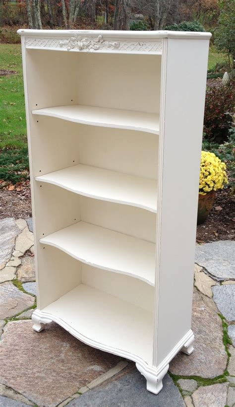 adjustable shelf shabby chic bookcase vintage painted