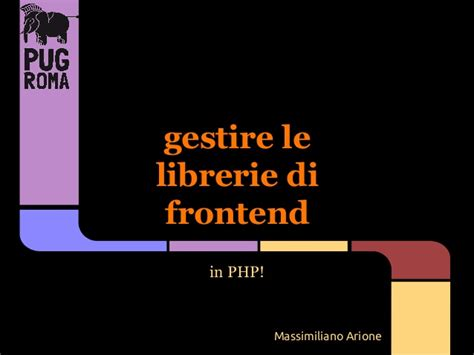 librerie php gestire librerie di frontend in php